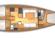 Dufour 45 Evolution-3 cabins