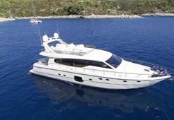Ferretti 630 for charter in Trogir