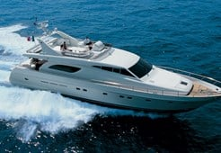 L Ferretti 720 for charter in Split