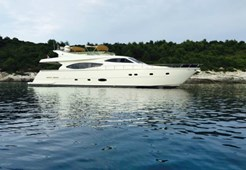 Ferretti 760 for charter in Kastela, Split