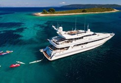 L Heesen 131 for charter in Trogir
