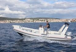 Joker boat Clubman 22 for charter in Trogir