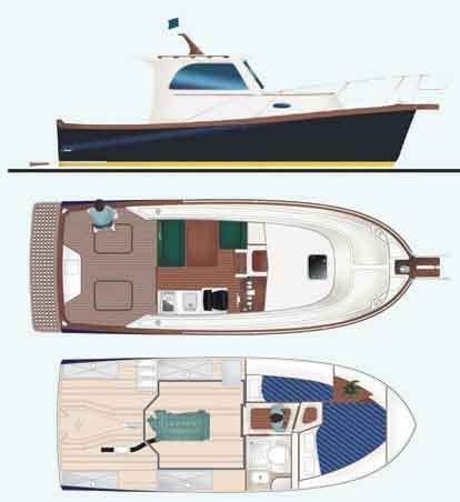 marco polo 26 second hand motor yacht for sale in. Black Bedroom Furniture Sets. Home Design Ideas